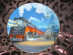 Starlight Limited Collector Plate Romance Of The Rails Hamilton Train Tutwiler Many Others Also Available @