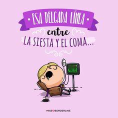 Esa delgada línea entre la siesta y el coma. #funny #humor #divertidas #graciosas #chistes