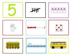 Cijferkaart 5: Met deze cijferkaarten kun je veel rekenactiviteiten doen in de groep. Ze kunnen heel goed gebruikt worden bij de digibordles: http://digibordonderbouw.nl/index.php/lessen/rekenen/telenzoek112