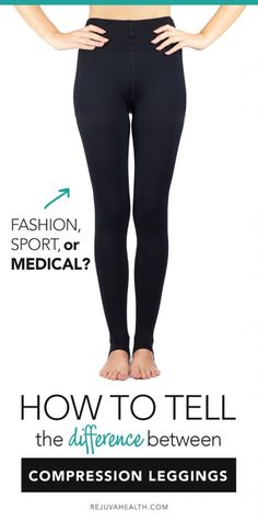How to tell the difference between copmression leggings