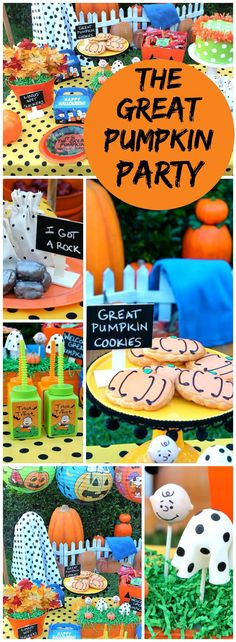 Love all the great ideas at this Charlie Brown Great Pumpkin party! See more…