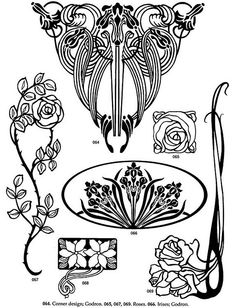 Art Nouveau Floral Designs 2 Pattern Design Motif Deco