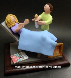 OB-GYN Doctor's Gift  www.magicmud.com    1 800 231 9814    magicmud@magicmud.com $225  Personalized #Medical Gift Figurines, custom created just for you!    Perfect present for all #Doctors, a  heartfelt gift for birthdays, graduations, anniversaries, new office openings, retirement, as a thank you to a great #physician  Surgeon, cardiologist, therapist, nurse, ob-gyno, podiatrist, psychiatrist, nephrologist, urologist, radiologist, any occupation made to to order by #magicmud