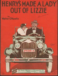 1928 Ford Model A Related Sheet Music (Henry s Made a Lady Out of Lizzie)