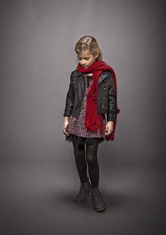 Vêtements fille IKKS : veste fille, chemise à carreaux et pantalon imprimé #FW14 #ikks