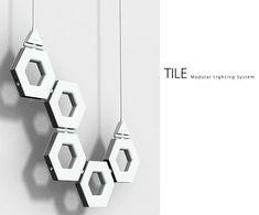 Tile-Modular Lighting System by Gary Chang.  Work lamp, floor lamp, wall lamp LED