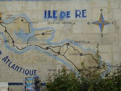 Map painted on to a wall, Ile de Re
