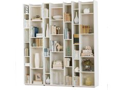 This is also a really interesting way to add, well, interest to awkwardly boring bookshelves.