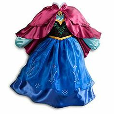 Disney Anna Costume for Girls - Frozen | Disney StoreAnna Costume for Girls - Frozen - Send her imagination off to a wintry Frozen world of wonder in this Anna Costume. Finely detailed, its colorful layers of satin and organza cover a black velvet ''bodice'' decorated in flowers and topped with an Anna cameo.