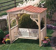 20 Awesome Pergola Swing Set Plans Images Projects To