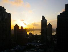 Dawn over the East River, New York City