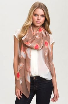 Marc by Marc Jacobs Highlighter Blossom Silk Scarf
