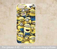 Despicable Me  Iphone Case  Iphone 4 Case  Minions  by Giftcase