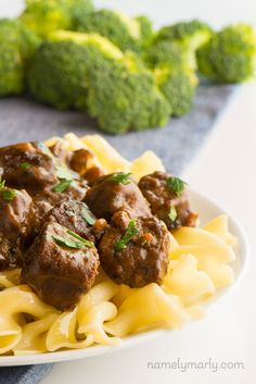 Easy Vegan Beef Stroganoff tastes like the dish you remember, but this one is…