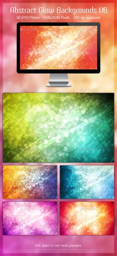 Abstract Glow BG V6 by planktonium Can be used in websites, presentations, posters etc. Contains:08 jpeg images 40002500 pixels 300 dpi resolutionCheck some of my ot