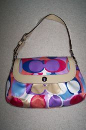 Available @ TrendTrunk.com Gently Used Authentic Coach Soho Satin Shoulder Bag. By Authentic Coach. Only $158.00!