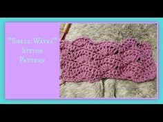 """""""Shell Waves"""" Stitch Pattern - YouTube"""