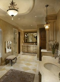 This bathroom has a great look to it.  Clean and Elegant!