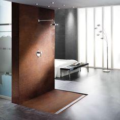 dusche aus cortenstahl