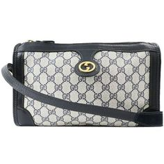 Color/Material: Navy/PVC x Leather. Size: Approx L 11.8in×H 7.6in×D 3.6in Shoulder strap 39.6in. Features: 1 Main pocket. Exterior: B Grade:Some scratches and faded on the metal.Some scratches on the surface.. Interior: B Grade:Faded inside.. Come With: N/A. Product Rank: About Product Conditions . - Navy Leather Shoulder Bag, Shoulder Strap, Vintage Gucci, Fashion Watches, Vintage Designs, Surface, Exterior, Pocket, Navy