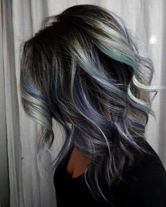 10 Pretty Pastel Hair Color Ideas with Blonde, Silver, Purple and Pink Highlight… - Best New Hair Styles Purple Grey Hair, Black And Grey Hair, Light Purple, Pink Purple, Grey Hair Roots, Violet Hair, Burgundy Hair, Purple Gray, Hair Highlights And Lowlights