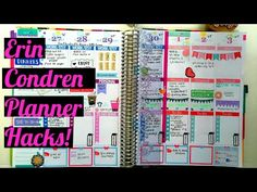 ERIN CONDREN LIFE PLANNER HACKS!!!! (EASY PLANNER UPGRADES) - YouTube