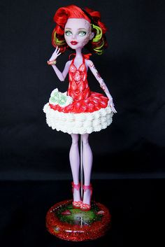 ♥BERRY♥ OOAK custom repaint Monster High doll Operetta Mattel by RaquelClemente…