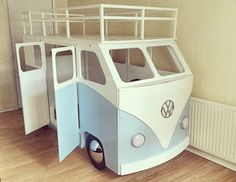 It's getting there... can't wait to get this in the showroom #vw #vwcamper #car #bed #fun #furniture #wood #craft #handmade #volkswagen #campervan #camper #kids #childrens #bunkbed #stylish #interiordesign #design