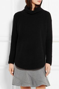 Vince | Zip-detailed ribbed wool and cashmere-blend sweater | NET-A-PORTER.COM