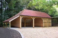 carports for tractors - Yahoo Image Search Results Carport Sheds, Carport Garage, Barns Sheds, Rv Carports, Wood Shed Plans, Garage Plans, Carport Plans, Shed Storage, Built In Storage