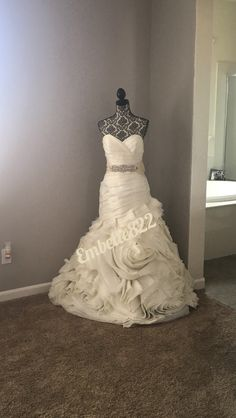 I would love to display my wedding dress like this in my closet ...