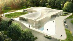 Beukenhof Auditorium and Crematorium by Asymptote Architecture