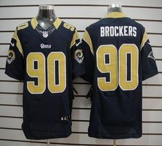 1961f506a Nike Rams  90 Michael Brockers Blue Team Color Mens NFL Elite Jersey And   Cowboys