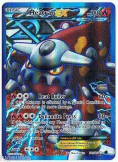 Pokemon Card Plasma Freeze FULL ART Rare Holo Heatran EX 109/116