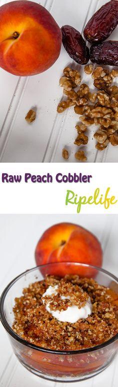 Raw Peach Cobbler #Raw #Peach #Cobbler