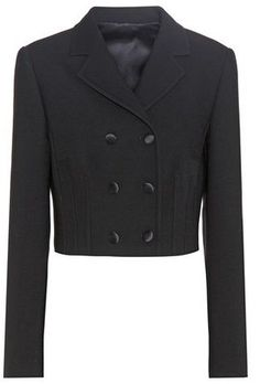 Dolce & Gabbana Virgin Wool-blend Cropped Jacket