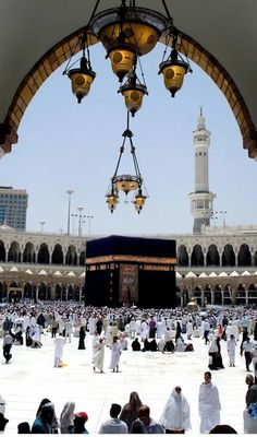 "Mecca :: Saudi Arabia 🌸🌼🌸 The Messenger of Allah also said; ""Whoever goes on pilgrimage to Meccah and did not engage in rafath[ Ar-Rafath: illicit talk.], and fusuq[ Al-Fusuq: Sin.], will have his past sins forgiven. Islamic Images, Islamic Pictures, Masjid Al-haram, Beautiful Mosques, Beautiful Places, Alhamdulillah, Mekka Islam, Mecca Kaaba, Mecca Wallpaper"