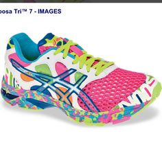 Glow in the dark running shoes ....I might have to get these if I do the Glow Run 5K!