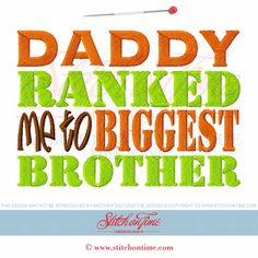 8248 Custom : Daddy Ranked Me To Biggest Brother 5x7