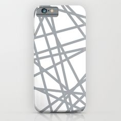 To The Edge Grey iPhone & iPod Case #lines #grey #white #geometric #line