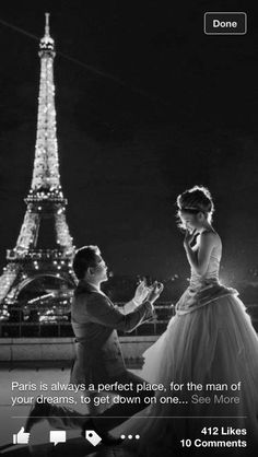 to get engaged in paris would be beyond perfect