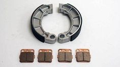New Front /& Rear Brake Pads /& Shoes For YAMAHA Bear Tracker250 YFM250 2000-04