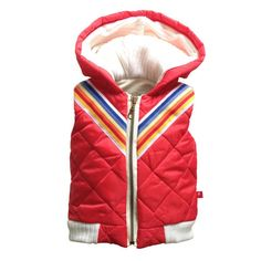 Veste rouge sans manches / Red Sleeveless Bomber Jacket