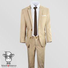 f4eddda7d Black n Bianco Boys Khaki Tan Suits Tan Blazer, Blazer Jacket, Khaki Suits,