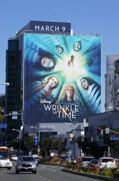 Giant Disney A Wrinkle in Time film billboard Sunset Strip A Wrinkle In Time, Sunset Strip, Billboard, Novels, Film, Disney, Movie Posters, Travel, Movie
