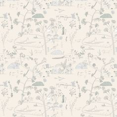 """""""O desenho desta floresta foi feito à mão com bico de pena e tinta preta. Depois, escaneado e colorido digitalmente.  Alguns animais brasileiros, como o tatu, se misturam com outros típicos de ouras regiões e até animais fantásticos numa mata multicultural.  Os detalhes da ilustração foram feitos para serem apreciados bem de pertinho!  Para ambientes alegres e lúdicos"""", Sandra."""