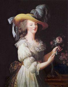 Elizabeth LouiseVigée #Lebrun; #Marie #Antoinette woremuslin; #1700s; #18th #Century #Art