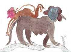 ellie curtis - masked animal no. Desert Days, Watercolor Animals, Rooster, Moose Art, Chicken