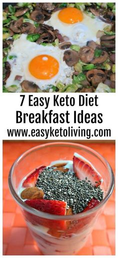 7 Keto Breakfast Ideas - Easy Low Carb and Ketogenic Diet Friendly Breakfast Recipes - with and without eggs, hearty fry ups and no cook inspiration too. #keto #ketobreakfast #ketorecipes