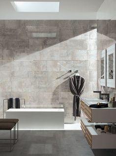 Porcelanosa showcased its new rectified Detroit stoneware model at Mosbuild.